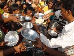 Feeding the hungry--1