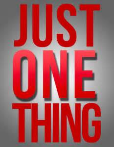 One Thing -2